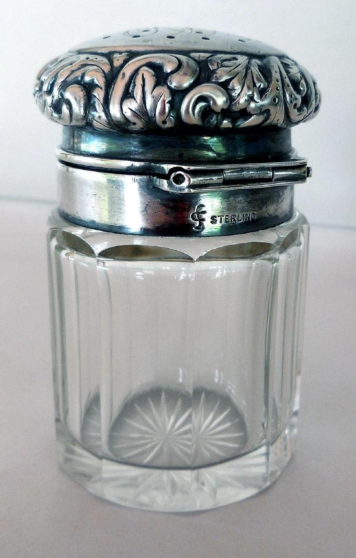 Antique Victorian Sterling-Topped Vanity Jar - 2