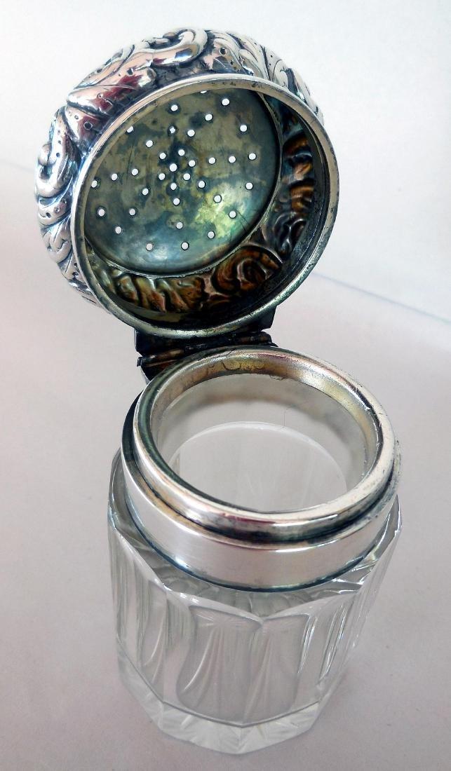 Antique Victorian Sterling-Topped Vanity Jar - 4