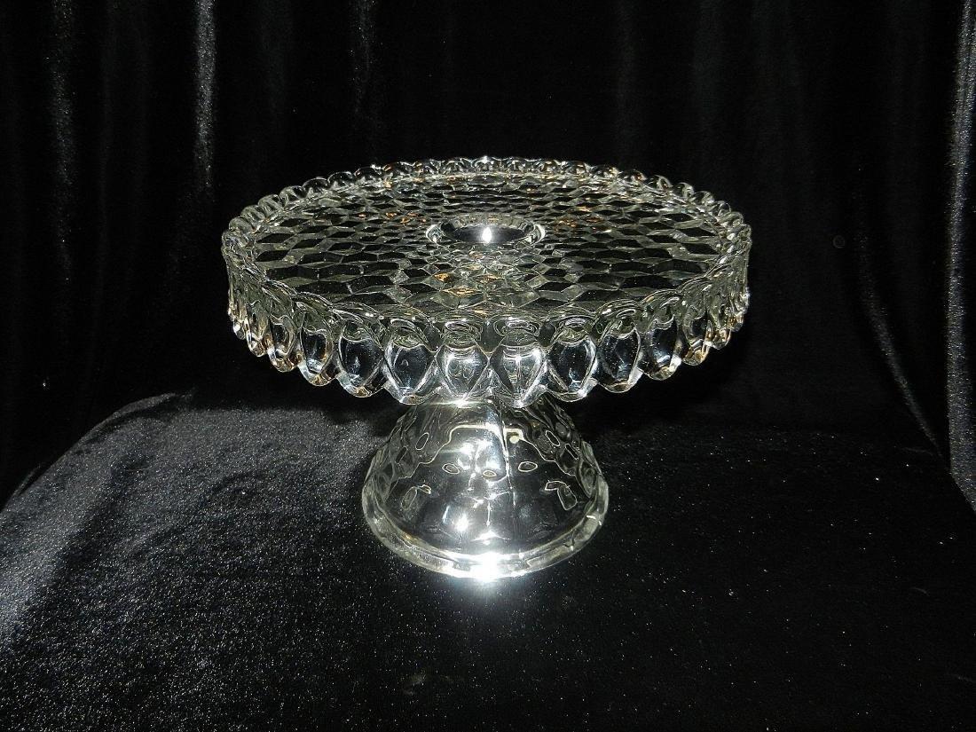 1930's Fostoria American Crystal Glass Cake Plate - 2