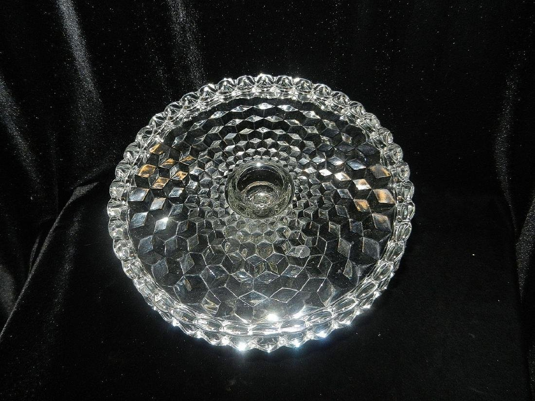 1930's Fostoria American Crystal Glass Cake Plate - 3