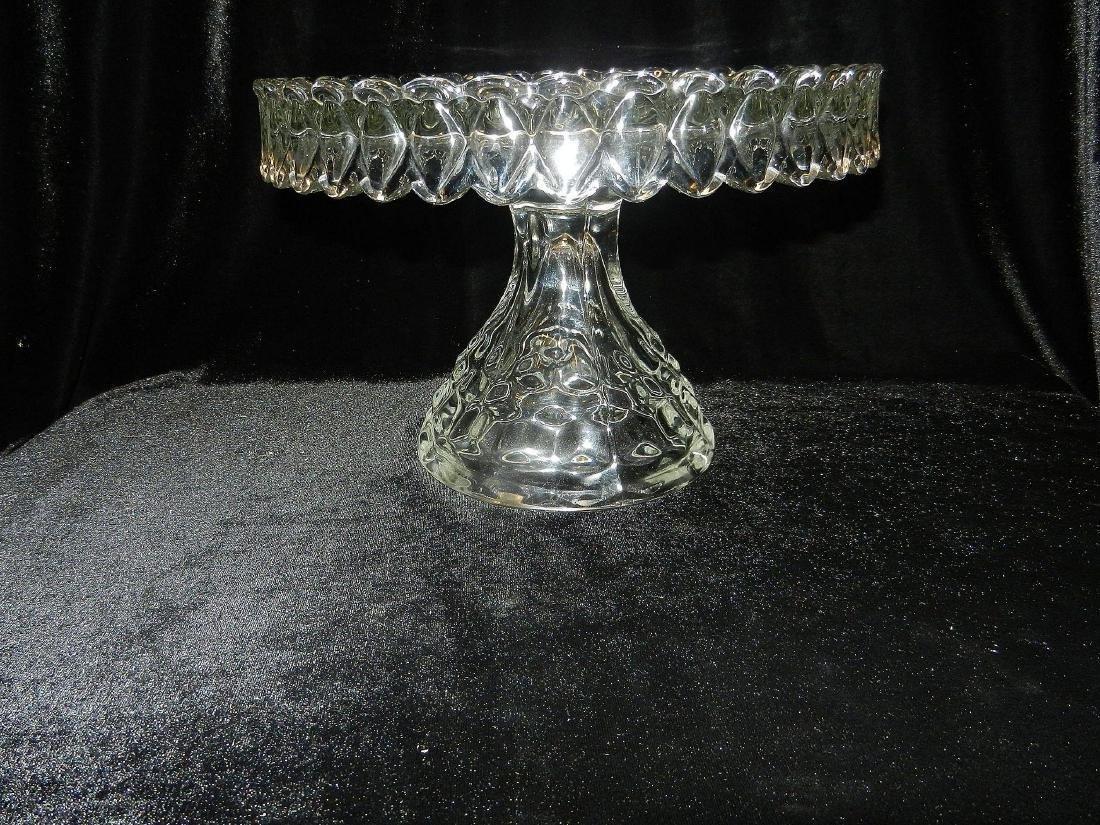 1930's Fostoria American Crystal Glass Cake Plate - 5