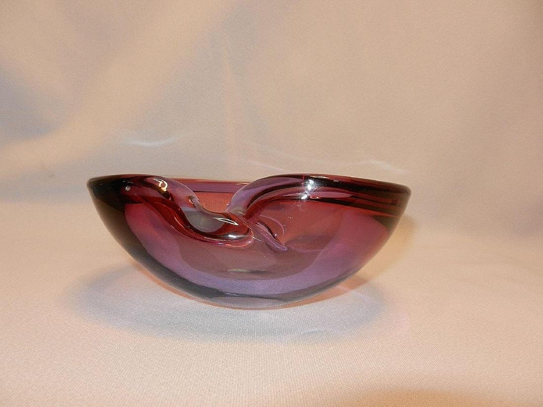 Vintage Mid-Century Murano Tri Color Art Glass Bowl - 3