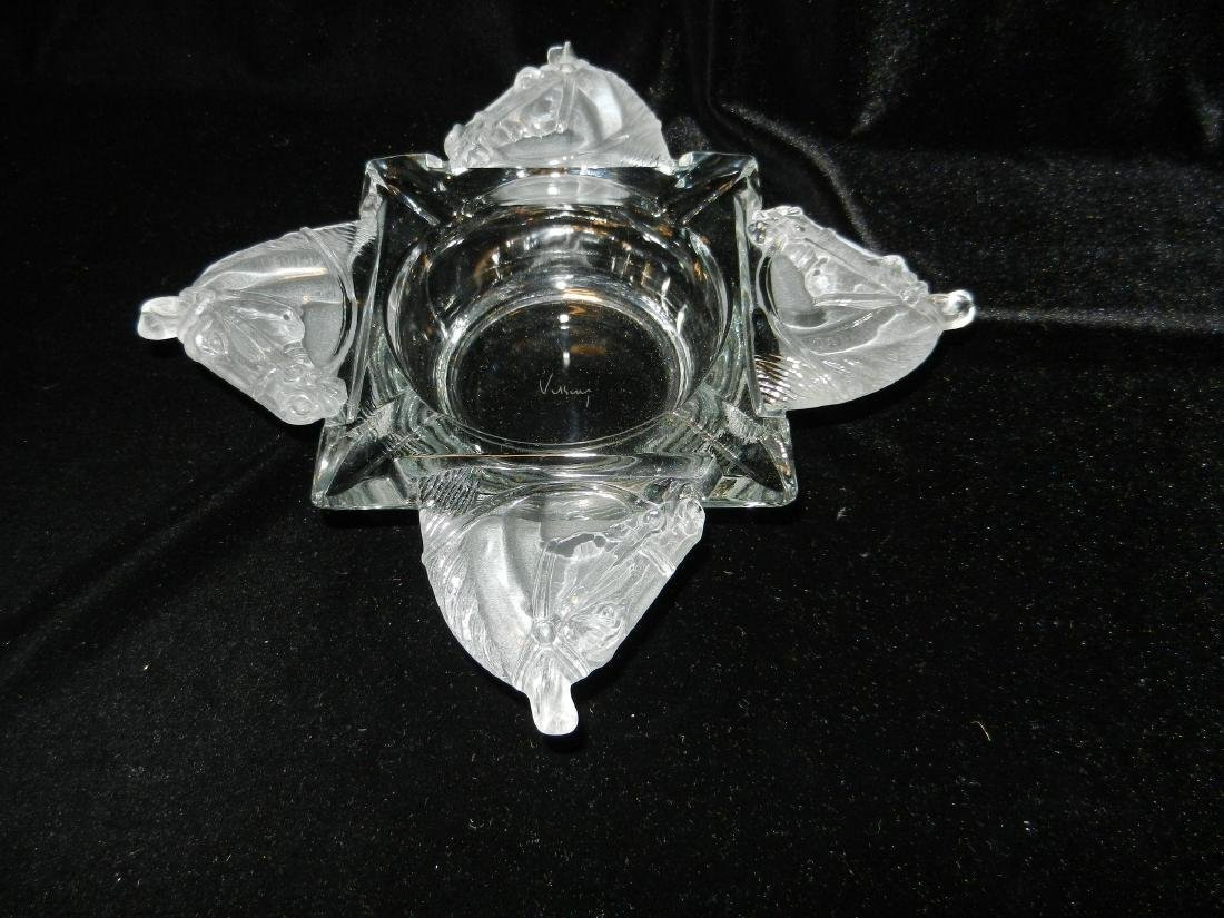 Vintage Heisey by Viking Four Horse Head Ashtray - 4