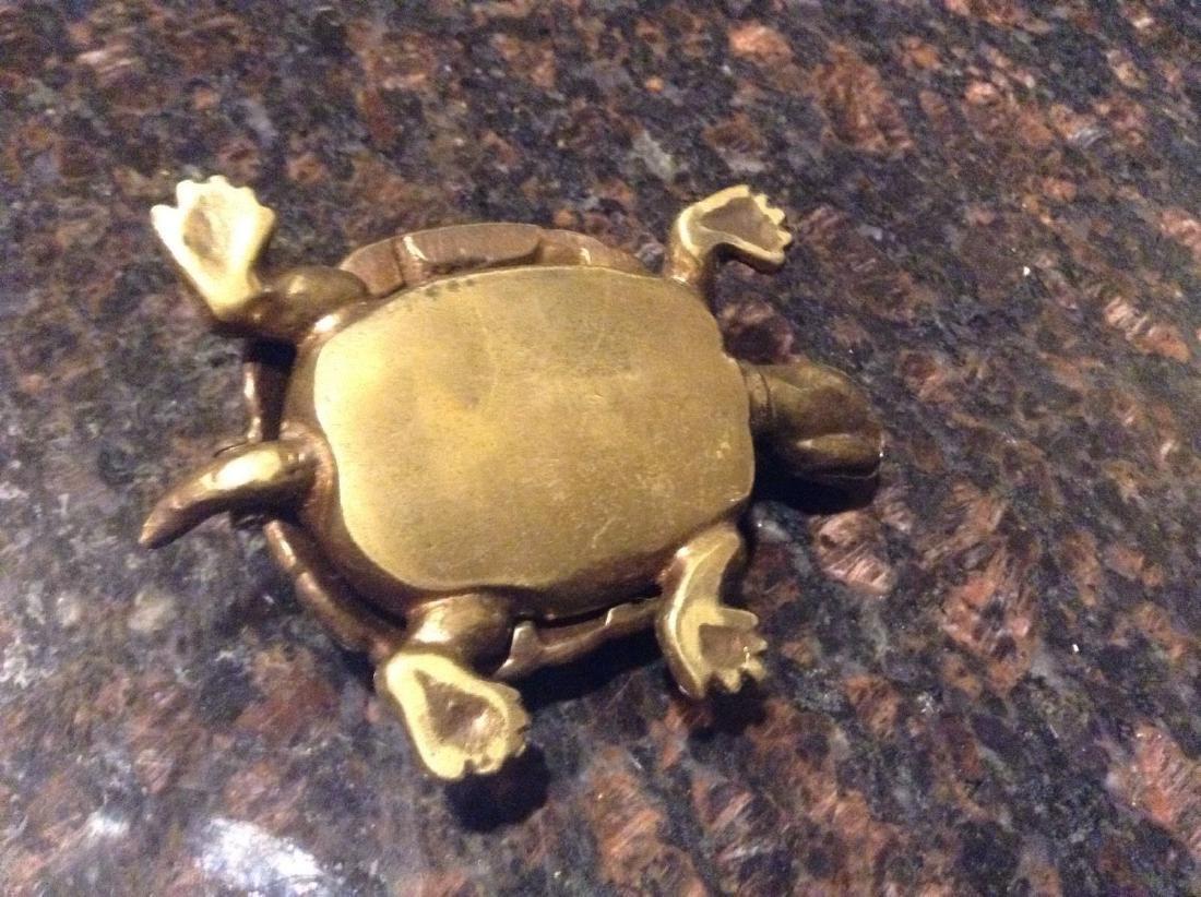 Figural Brass Turtle Tie Clip Holder Vintage - 2
