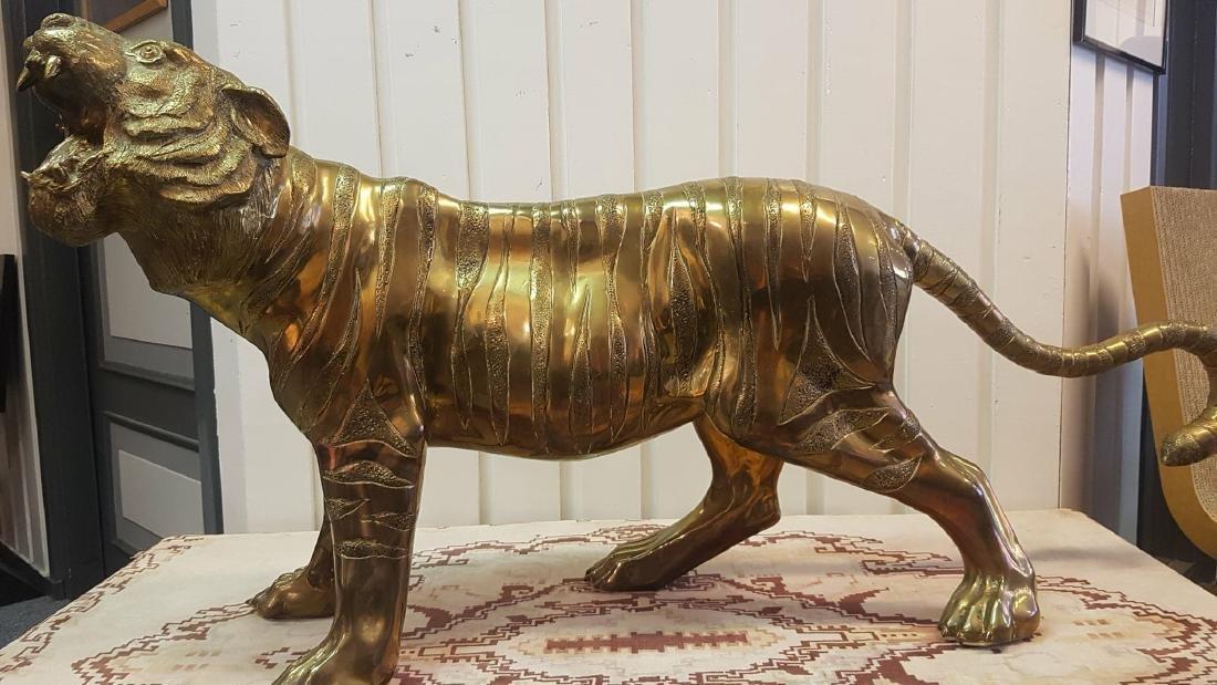Maison Jansen Brass Tiger Sculpture, 1960-70