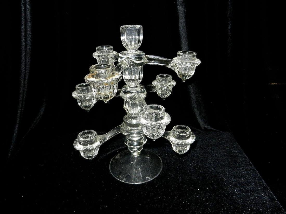 Vintage Cambridge Arms Crystal 3 Arm, 4 Candle Stick - 2