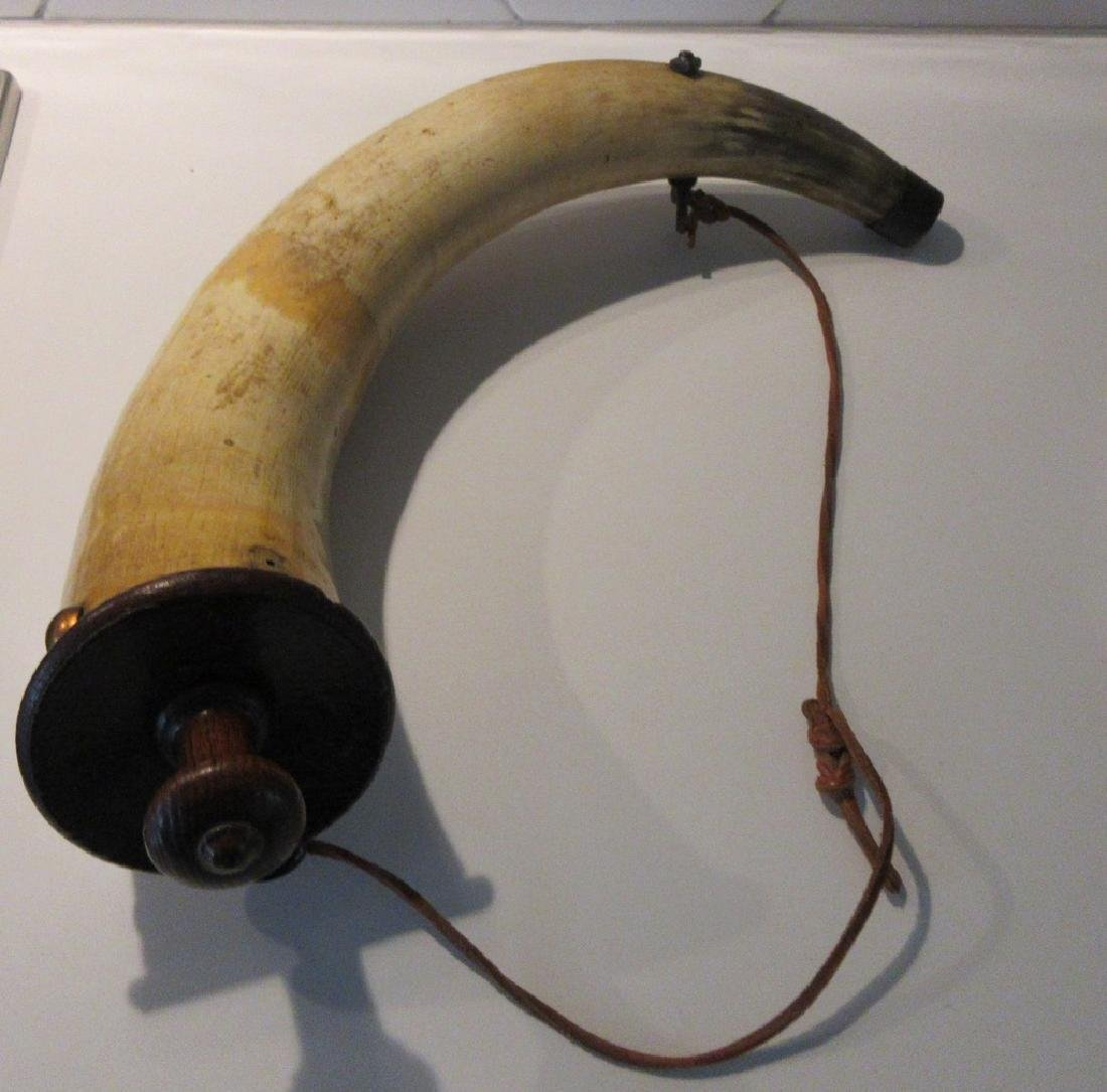 Antique late 18th century Musket Cow Horn