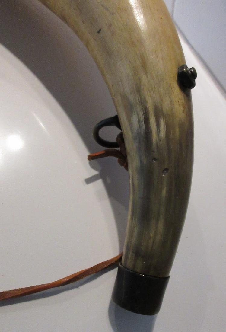 Antique late 18th century Musket Cow Horn - 4