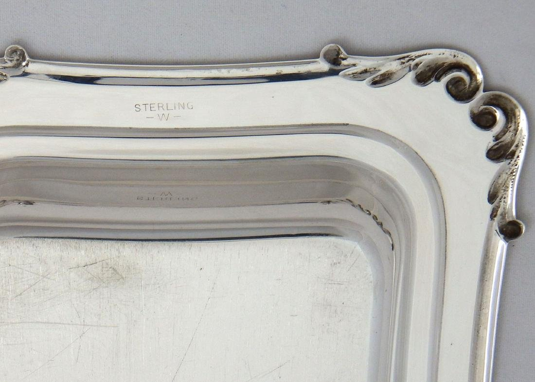 Sterling Silver Butter Dish with Cover & Glass Liner - 5