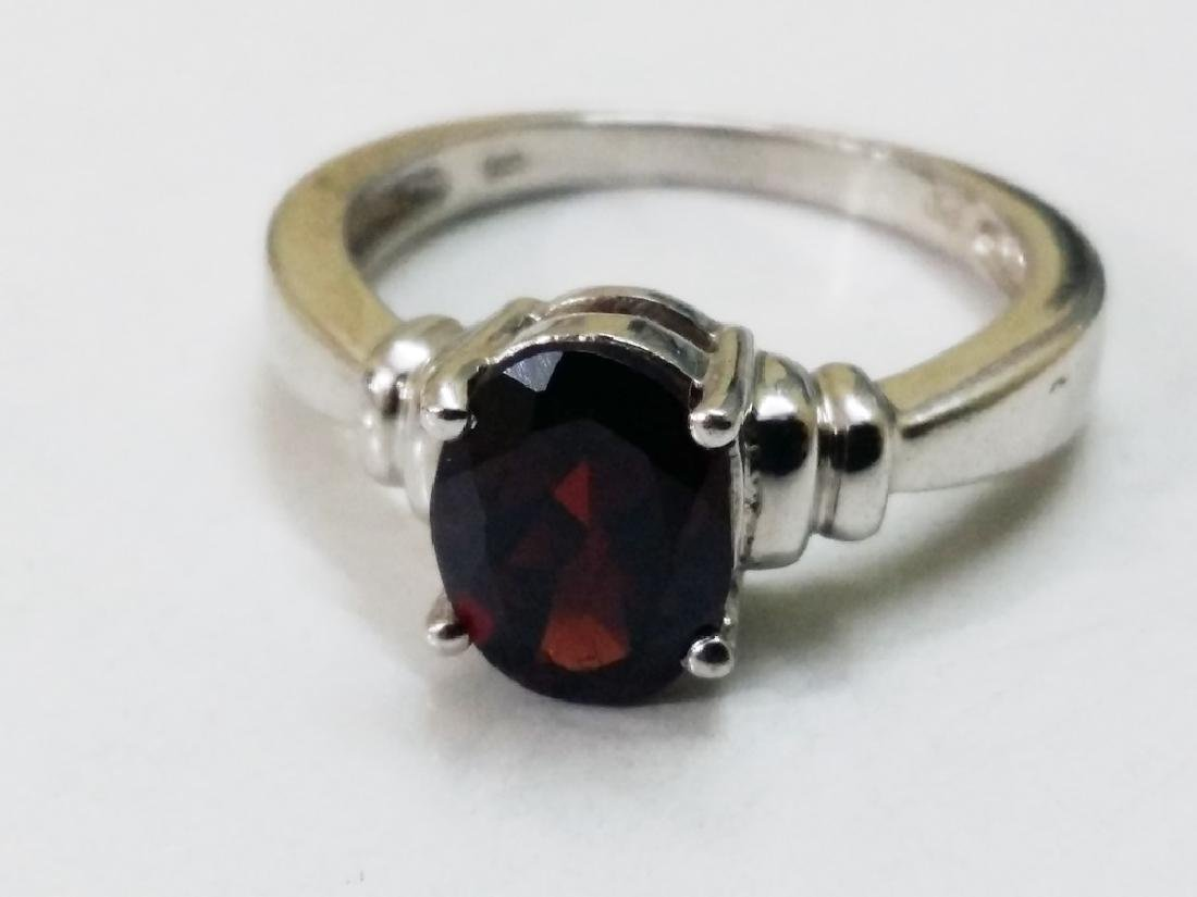 925 Sterling Silver Ring with Natural Hessonite Garnet