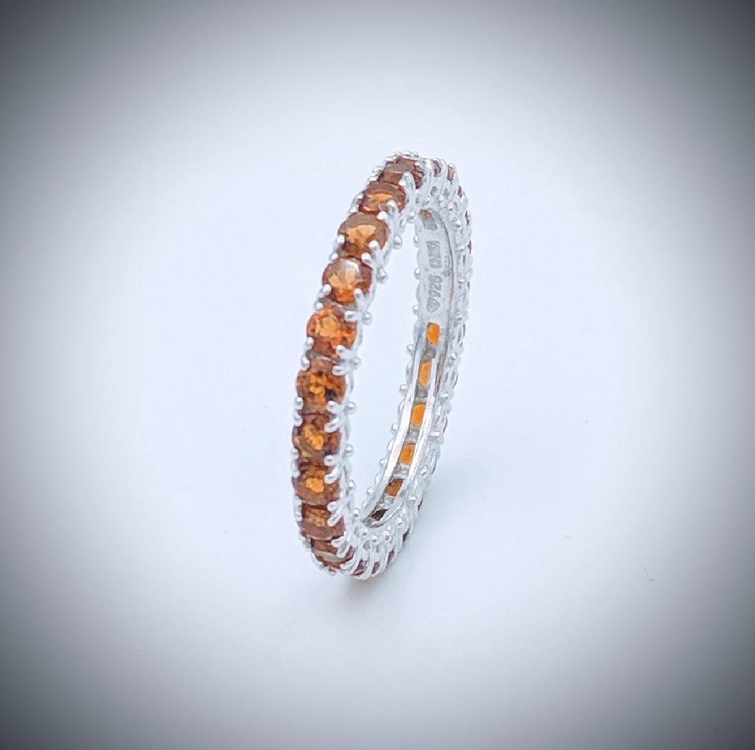 Sterling Silver Citrine Eternity Ring, 2.75ctw
