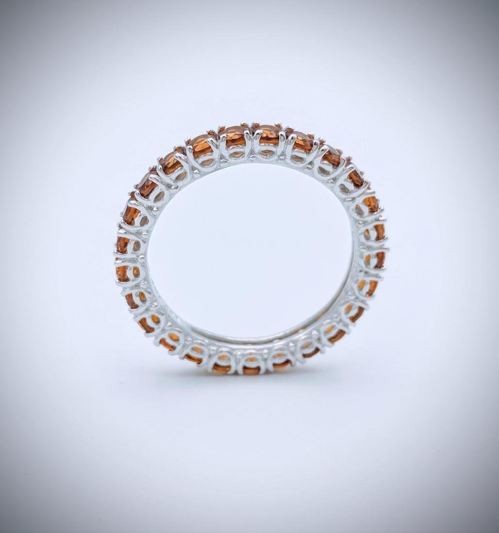 Sterling Silver Citrine Eternity Ring, 2.75ctw - 2