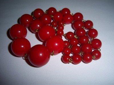 Vintage Cherry Amber Bakelite Necklace - 2
