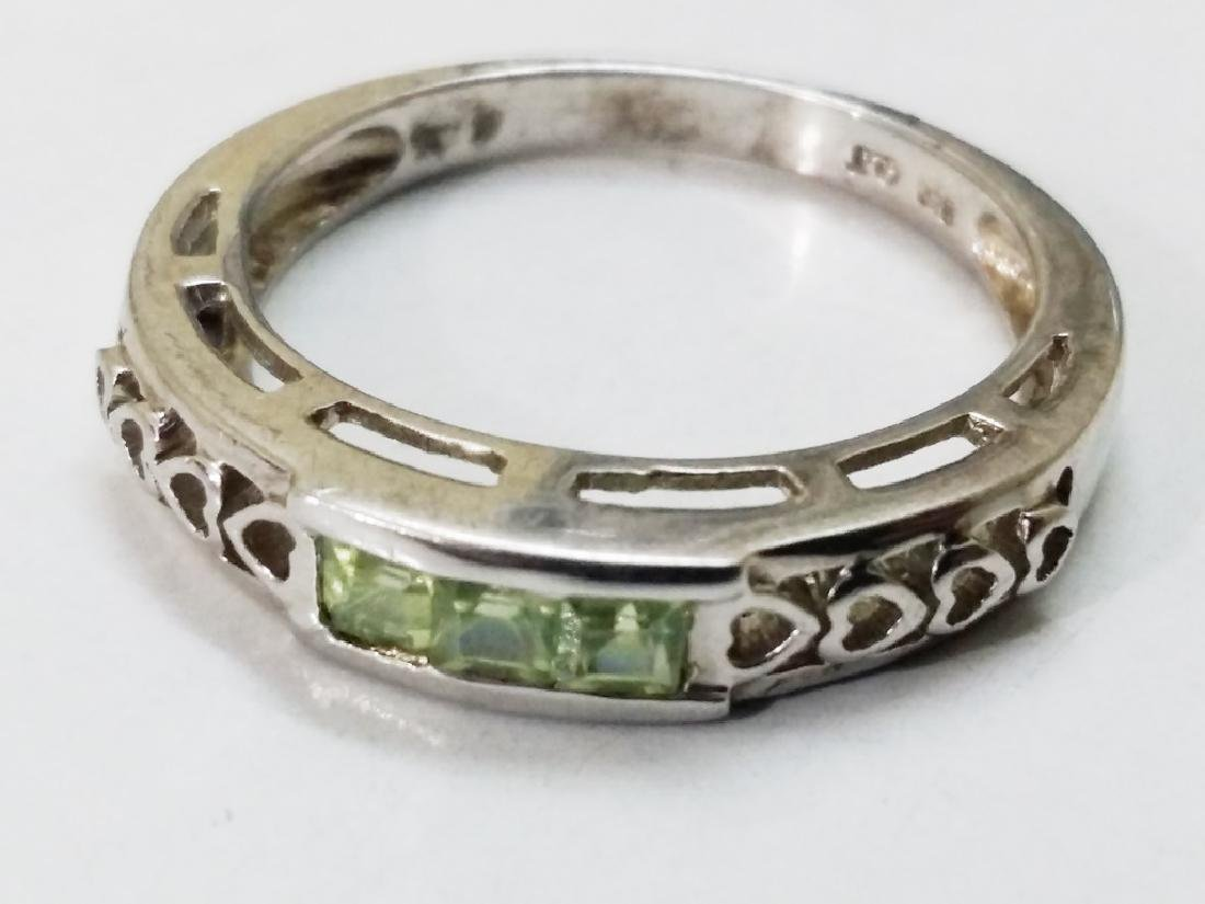 925 Sterling Silver Ring with Natural Green Peridot
