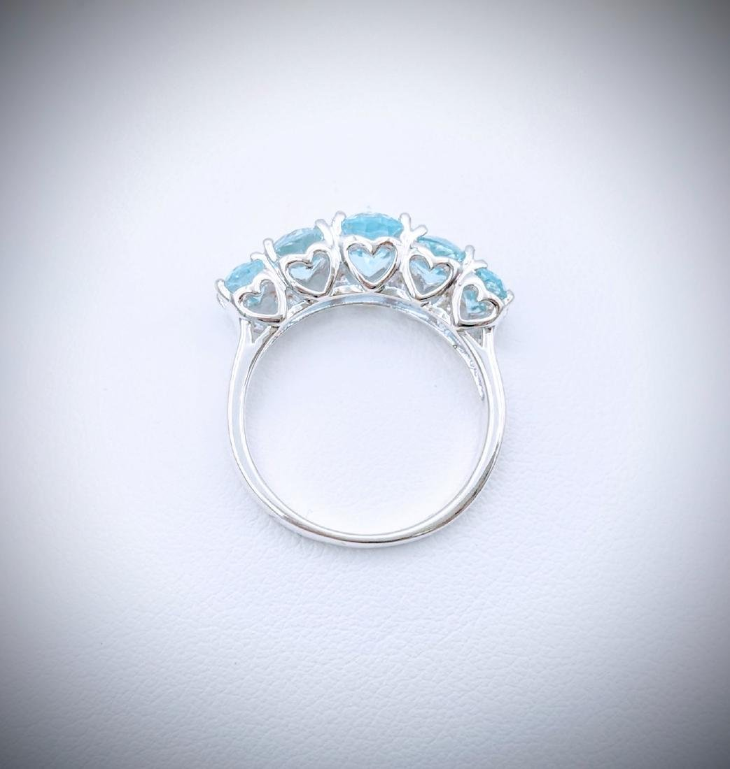Sterling Silver Blue Topaz Ring - 3