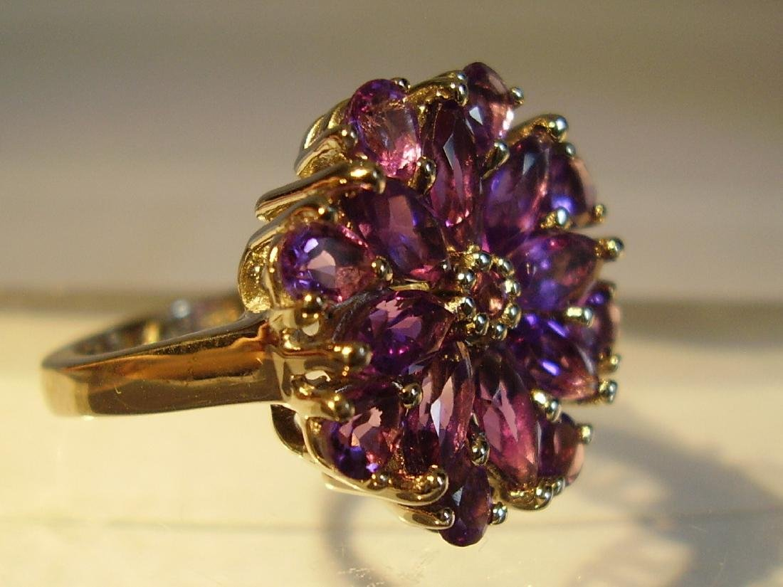 Fine Sterling Silver Amethyst Cocktail ring, 28ctw - 3