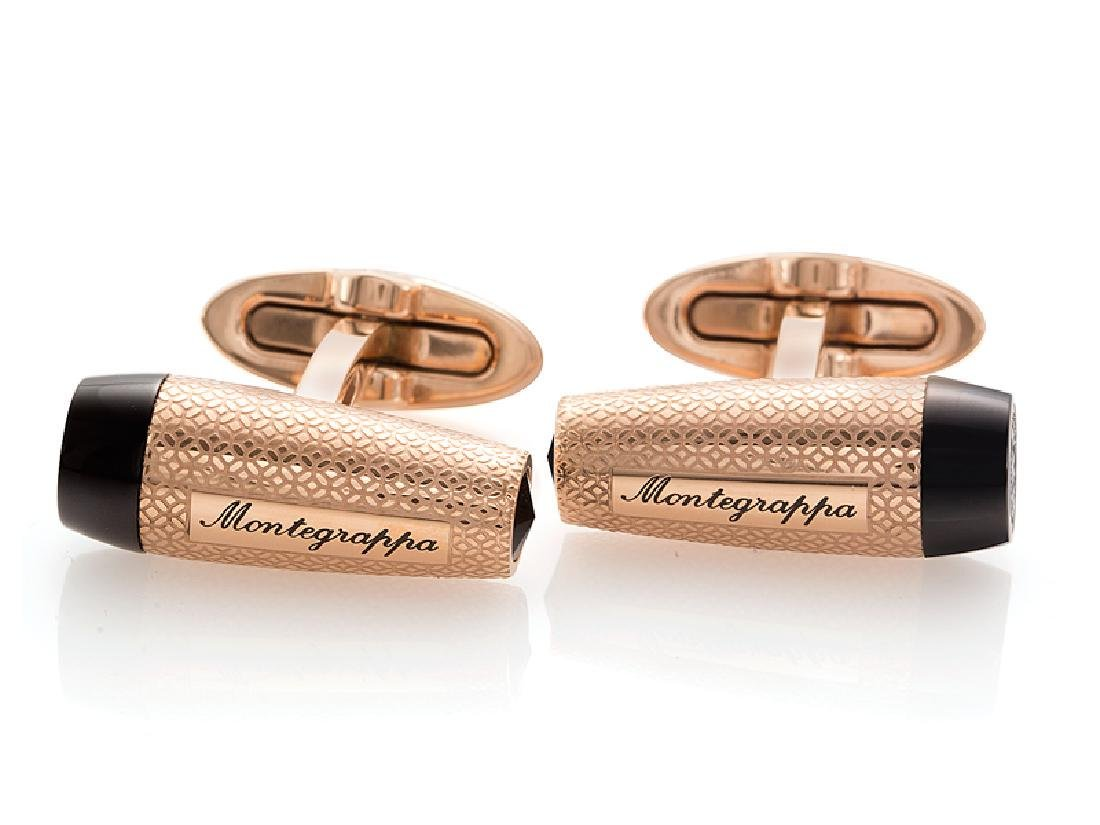 Montegrappa Fortuna Rose Gold / Black Tone Cufflinks