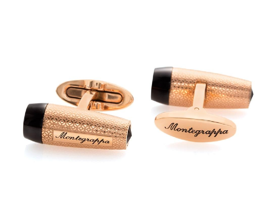 Montegrappa Fortuna Rose Gold / Black Tone Cufflinks - 2