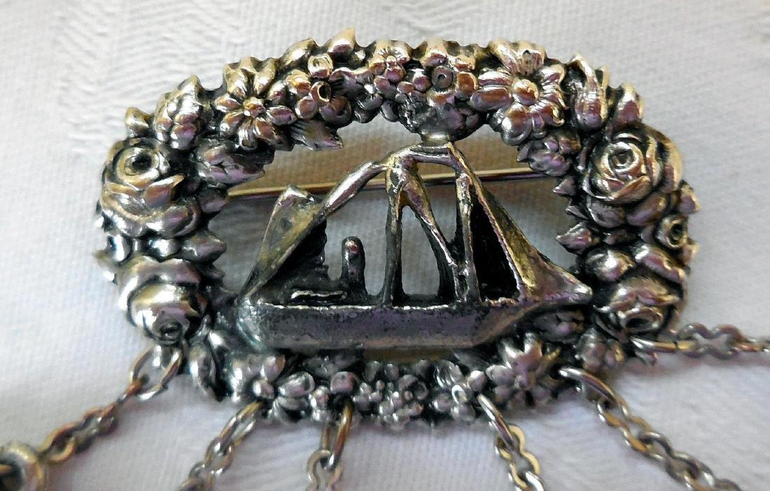 Vintage Chatelaine Charm Brooch - 2