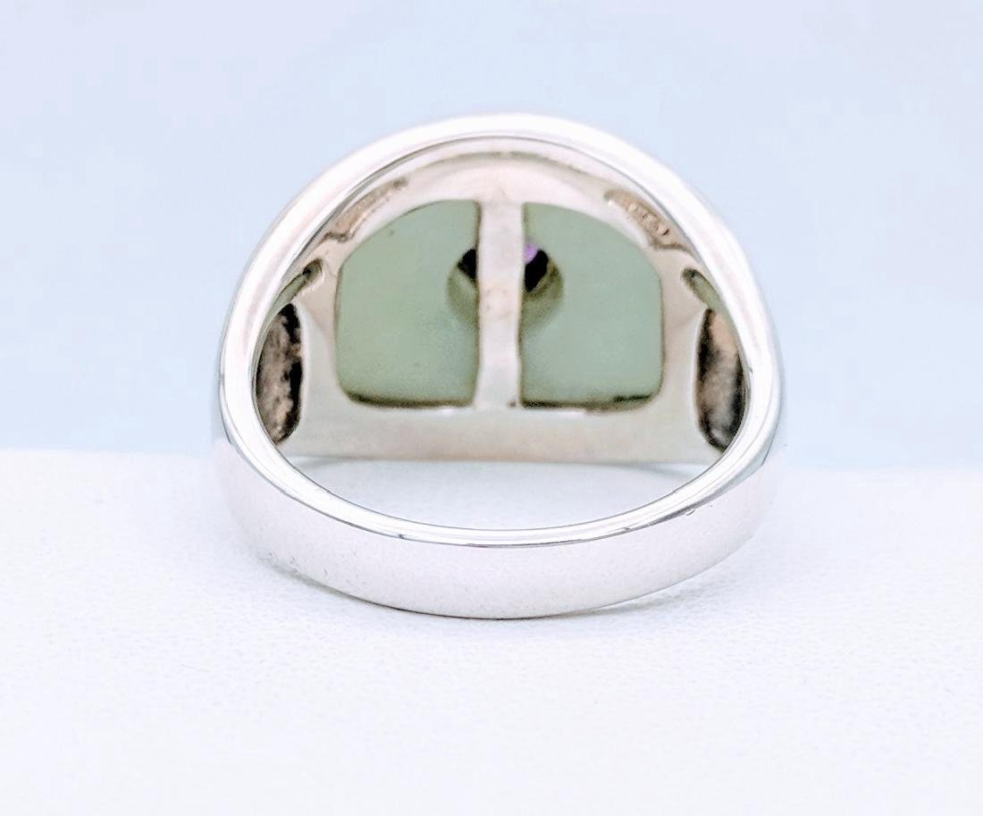 Sterling Silver Jade Raspberry Rhodolite Garnet Ring - 3