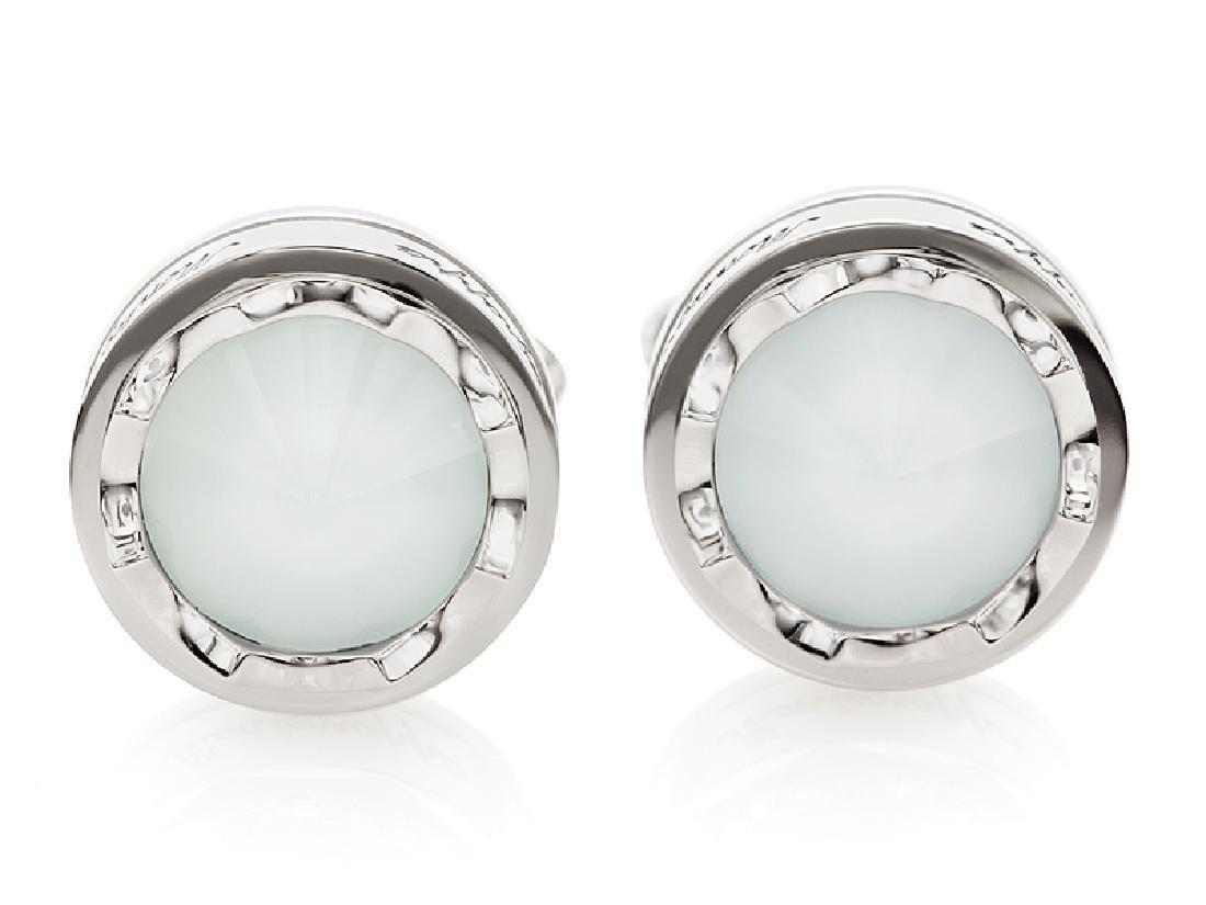"Montegrappa ""Parola"" Inspiration White Glass Cufflinks"