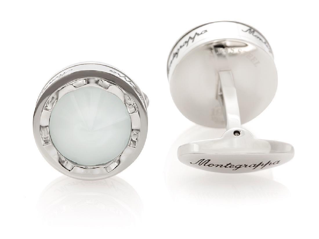 "Montegrappa ""Parola"" Inspiration White Glass Cufflinks - 2"