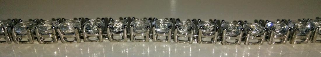 Sterling Silver Clear Topaz Tennis Bracelet - 3