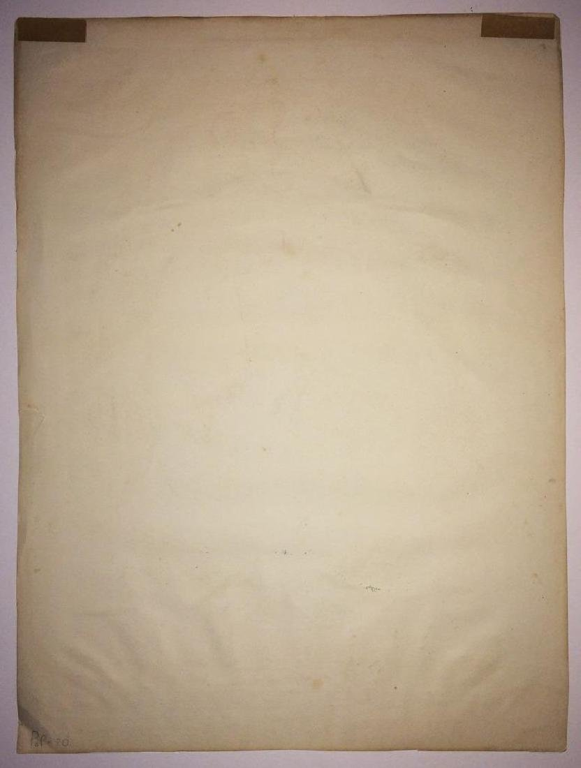 1865 Abraham Lincoln Memorial Lithograph Print Tinted - 2