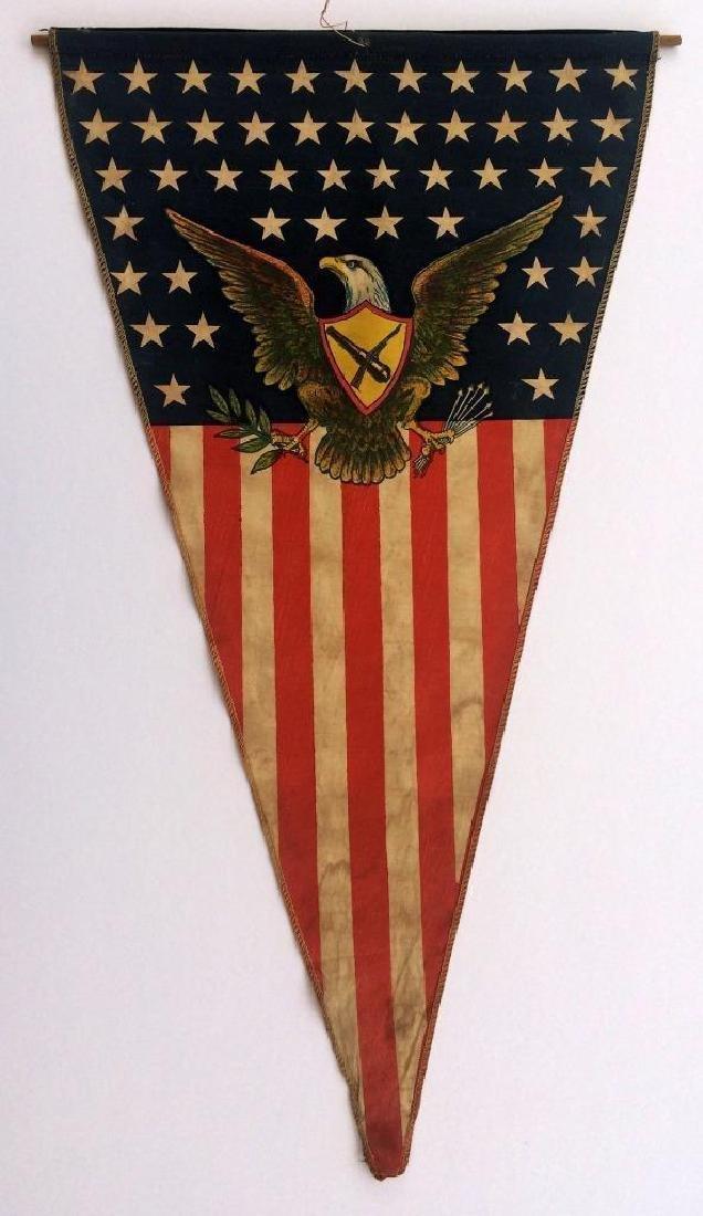 WWI US Army American Flag Pennant American Eagle