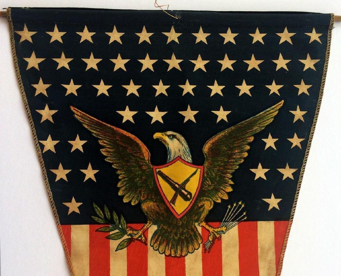 WWI US Army American Flag Pennant American Eagle - 2