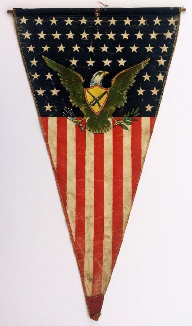 WWI US Army American Flag Pennant American Eagle - 4