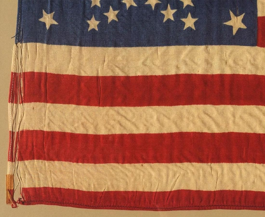 1877 Vintage US American Silk Flag 38 Great Star - 3