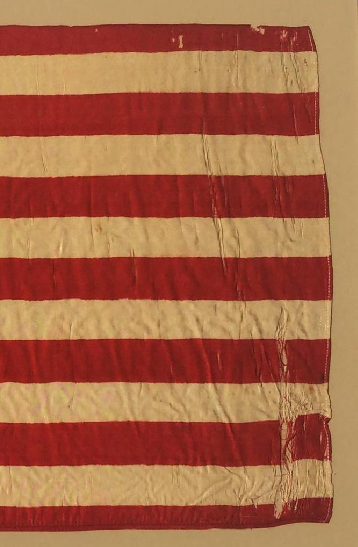 1877 Vintage US American Silk Flag 38 Great Star - 4