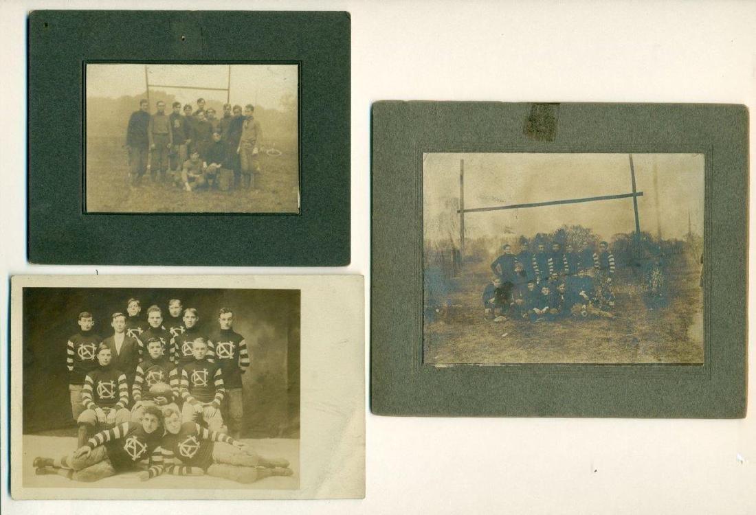 Lot of 3 Early Football Team Photos C 1910 Northwestern