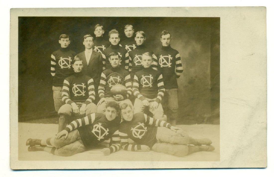 Lot of 3 Early Football Team Photos C 1910 Northwestern - 6