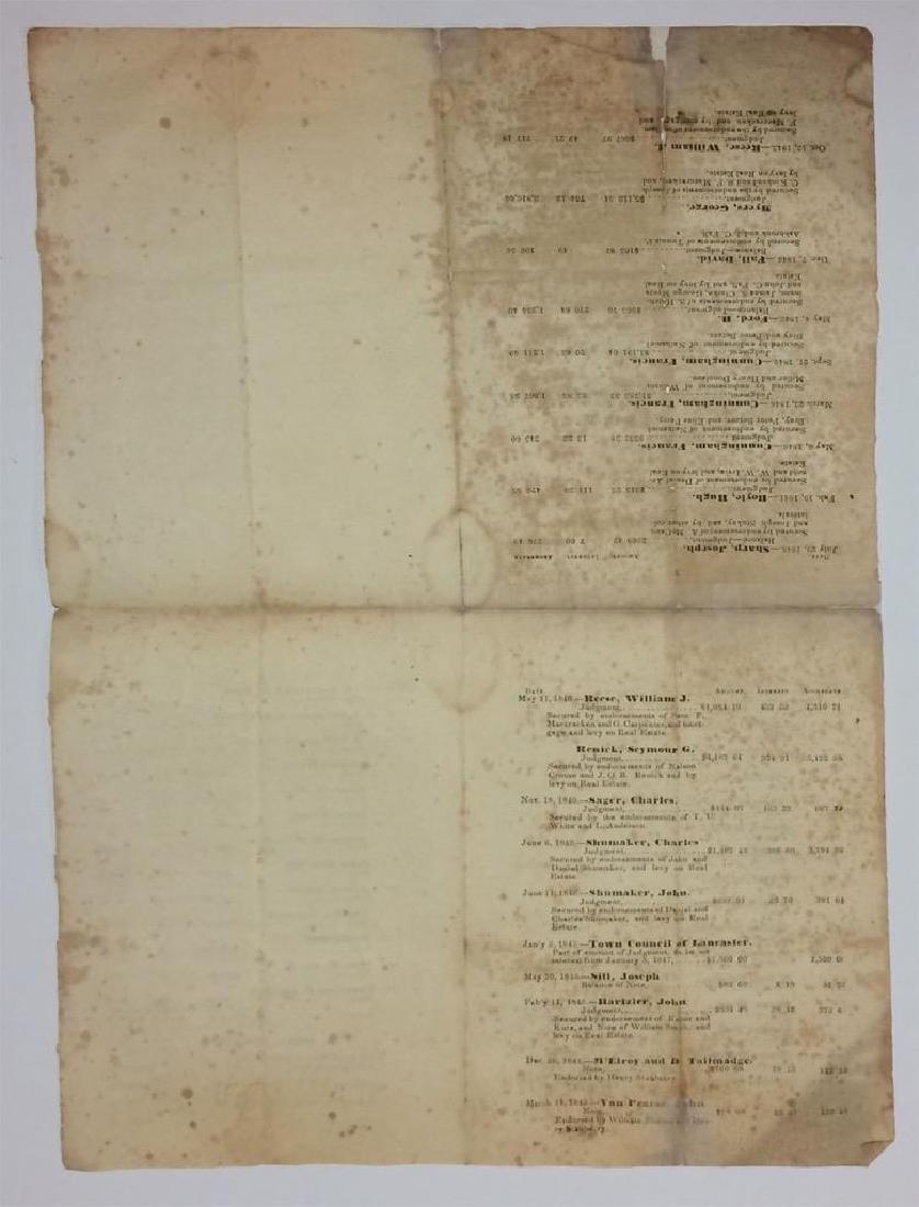 1847 Lancaster Ohio Bank Assets Print List Stockholder - 4