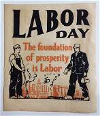 Industrial C 1920s Labor Day Block Print Poster