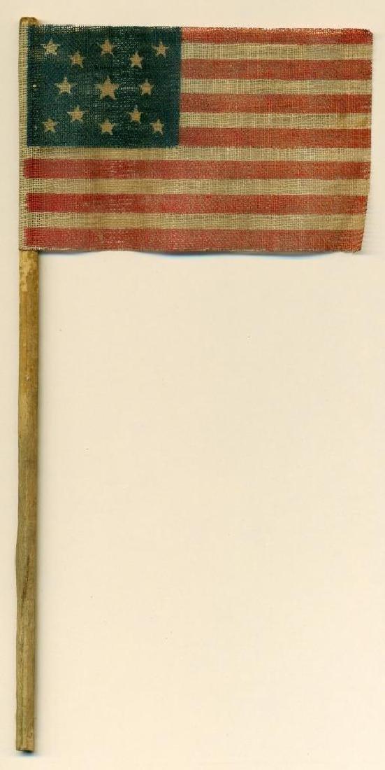 1876 Vintage 13 Star Centennial US American Parade Flag