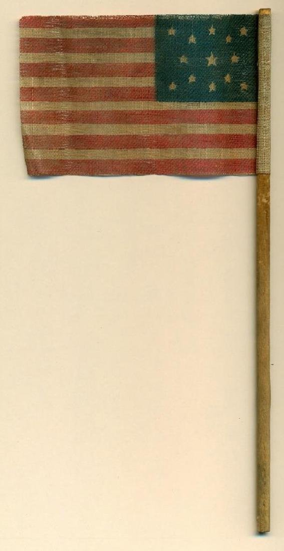 1876 Vintage 13 Star Centennial US American Parade Flag - 2