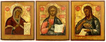 Deesis. Three icons