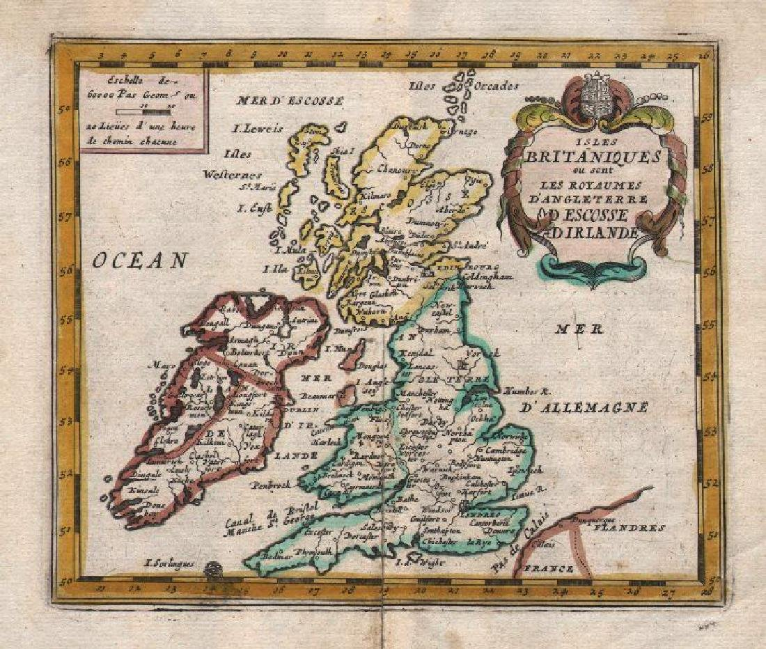 de Fer: Antique Map of the British Isles, 1684