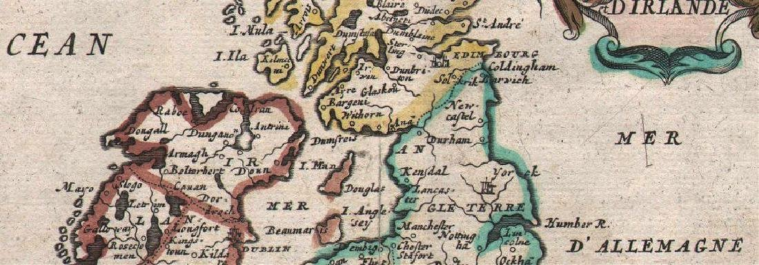 de Fer: Antique Map of the British Isles, 1684 - 2