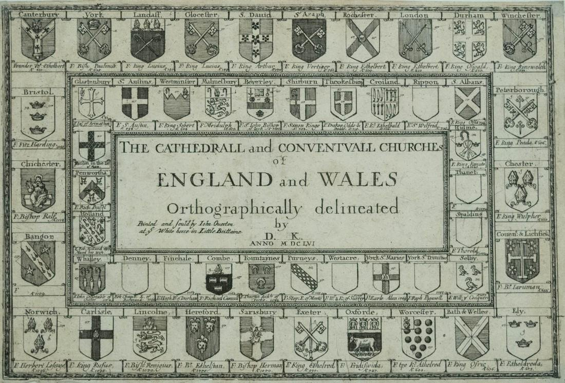 1656 King's Frontispiece of England and Wales Churches
