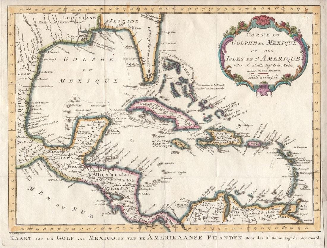 Bellin: Gulf of Mexico / West Indies, 1771