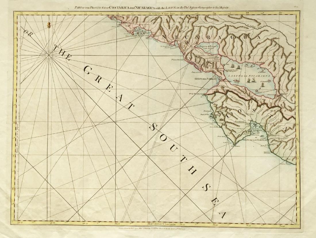 Jefferys / Sayer: Pacific Coasts Nicaragua / Costa Rica