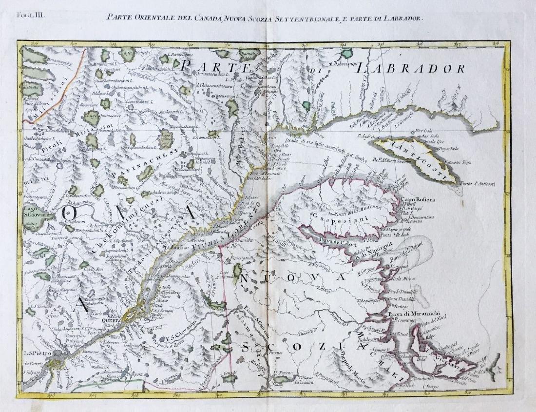 Zatta: St. Lawrence Basin / Southeast Canada, 1778