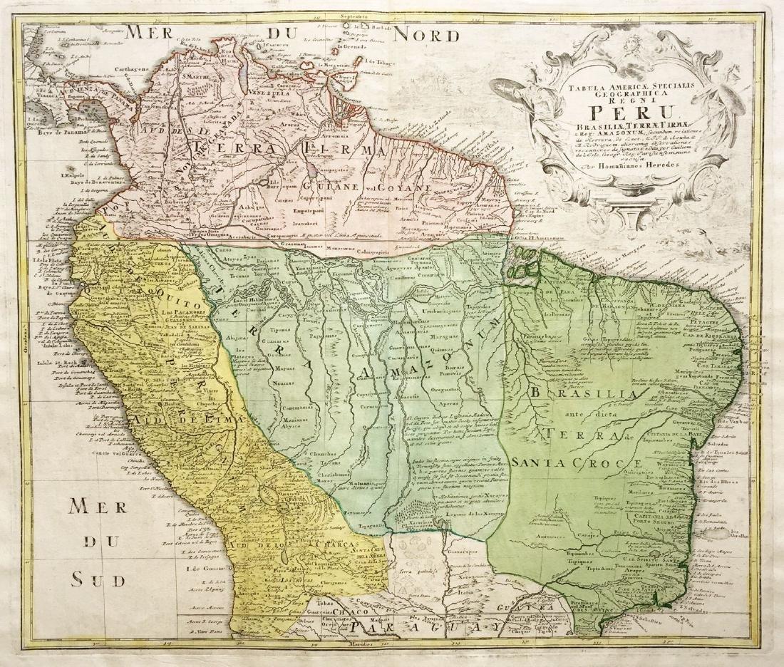 Homann Heirs: Northern South America, 1762