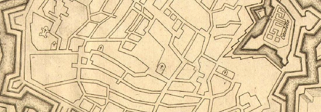 de Fer: Verceil'. Vercelli. Plan of town/city & - 2