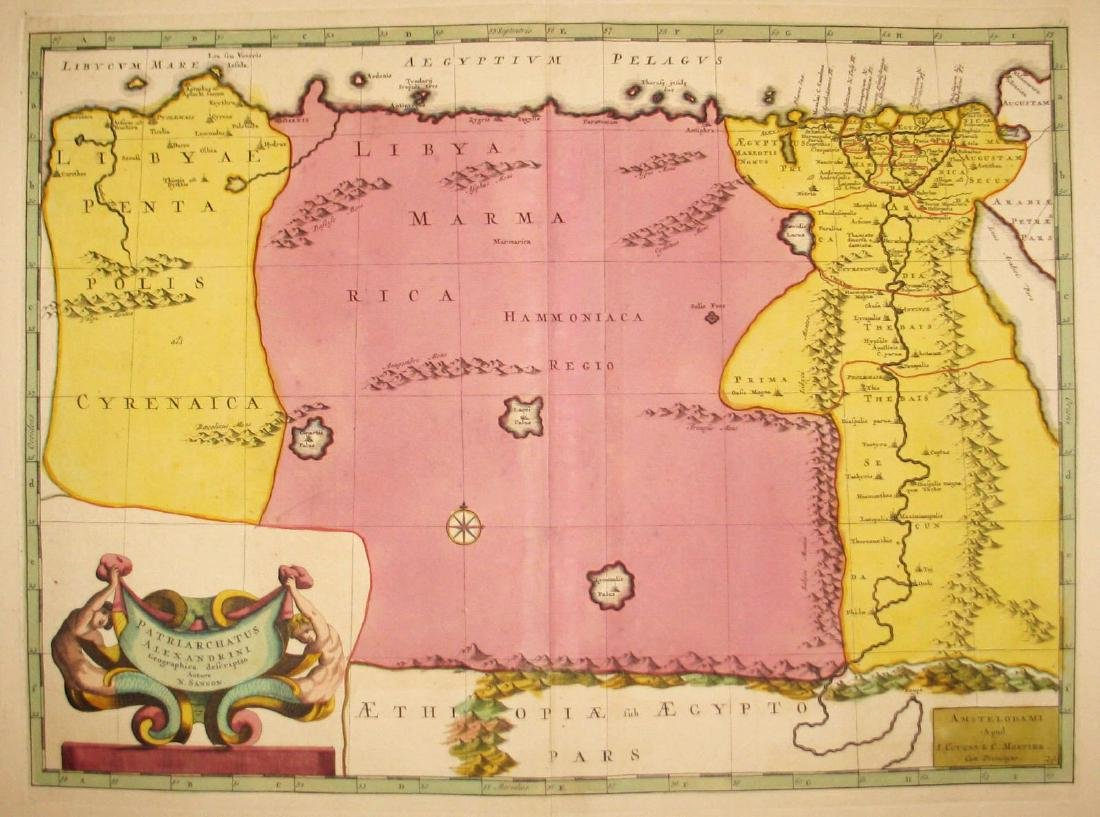 Sanson: North Africa / Patriarchate of Alexandria, 1730