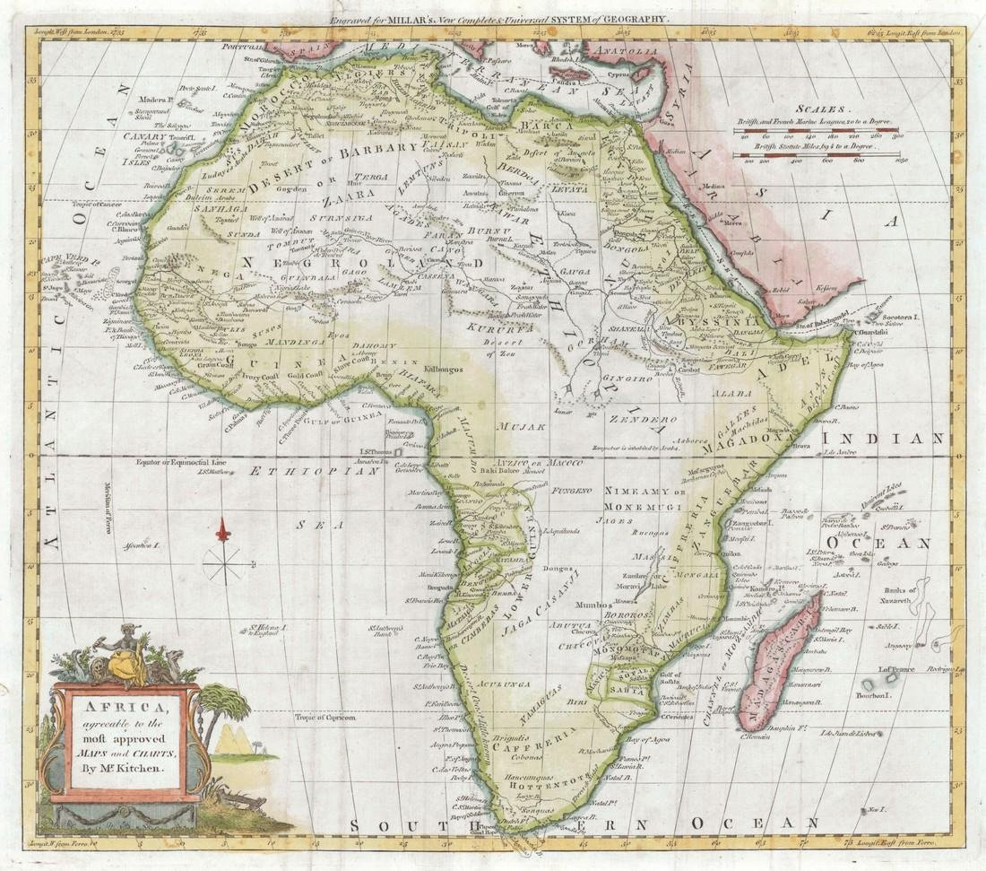 Africa, Agreeable to the Most Approved Maps and Charts,